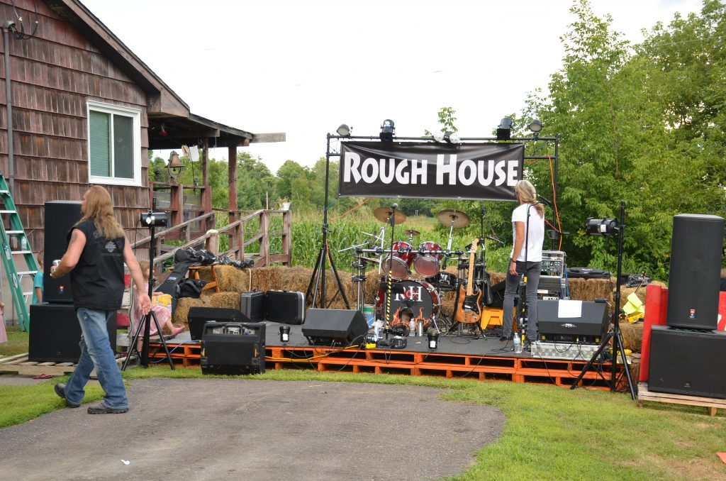 Rough House Rox band setting up for the evening music.