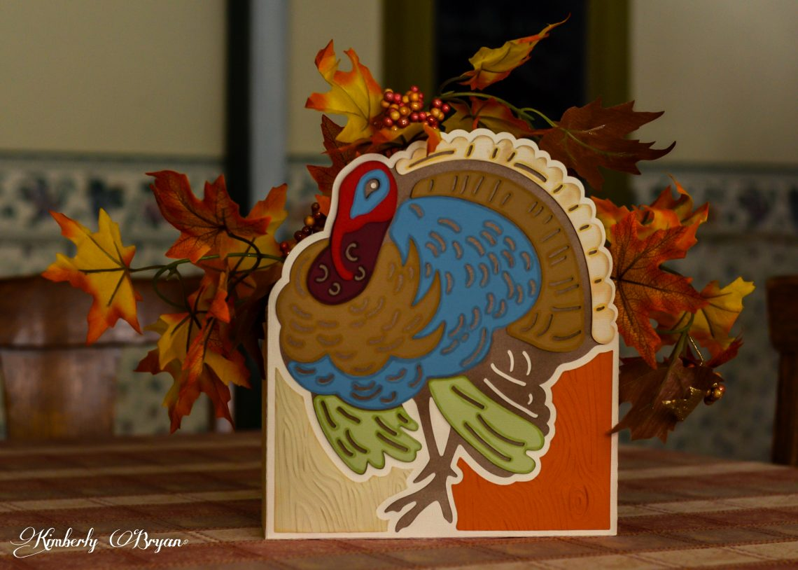 Turkey Center piece I cut out with a Silhouette Cameo. The file comes from svgcuts.com