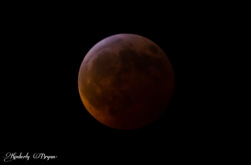 The Blood Moon in it's complete red fays.