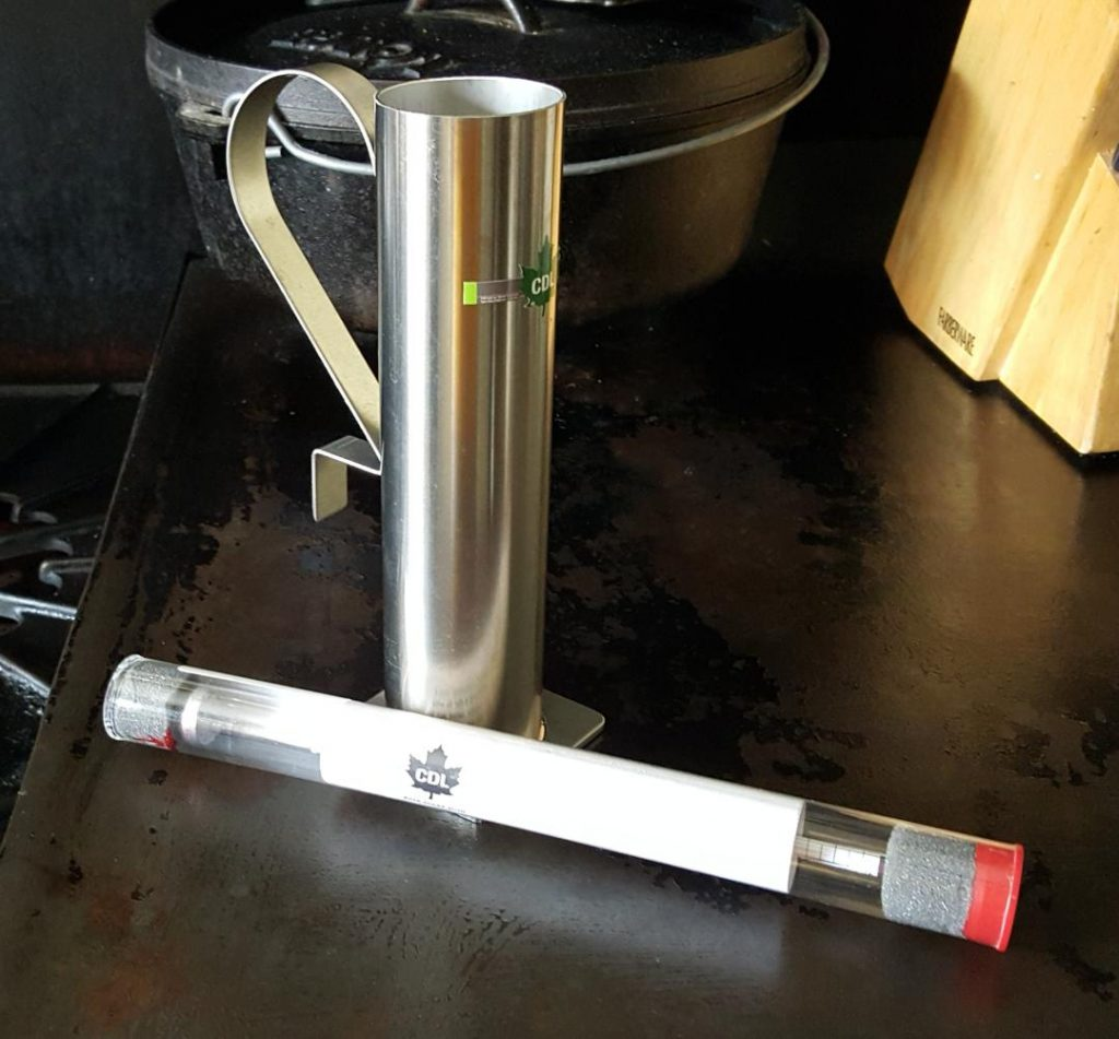 You are looking at a Syrup stainless steel Hydra cup and a Syrup Hydrometer for measuring syrup denseness.