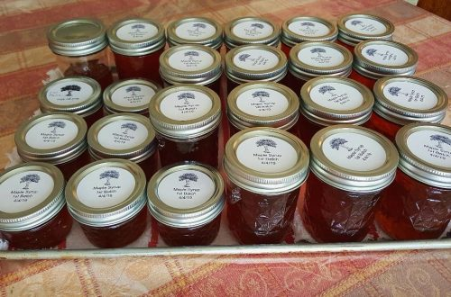 You are looking at 20 jars of canned Pure Maple Syrup. The color is a dark caramel with a deep maple robust flavor.