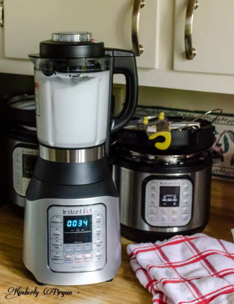 Your looking at the Instant Pot Ace Blender running in the cleaning program. There's soapy water being blended in the glass pitcher.