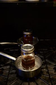 You are looking at coffee and herbs being heat oil infused, with the stove method.