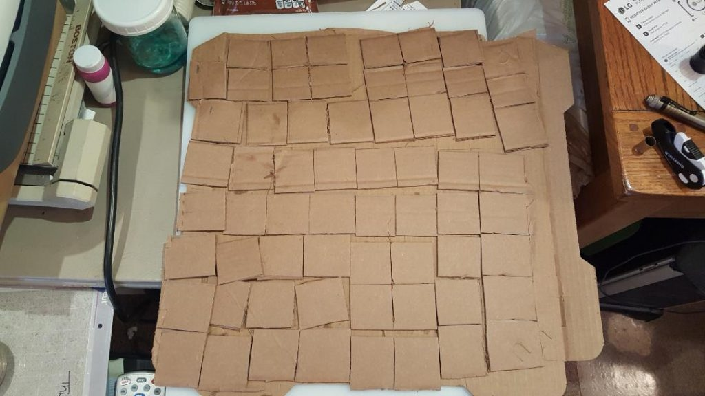 You are looking at the cut card board 1 inch squares.