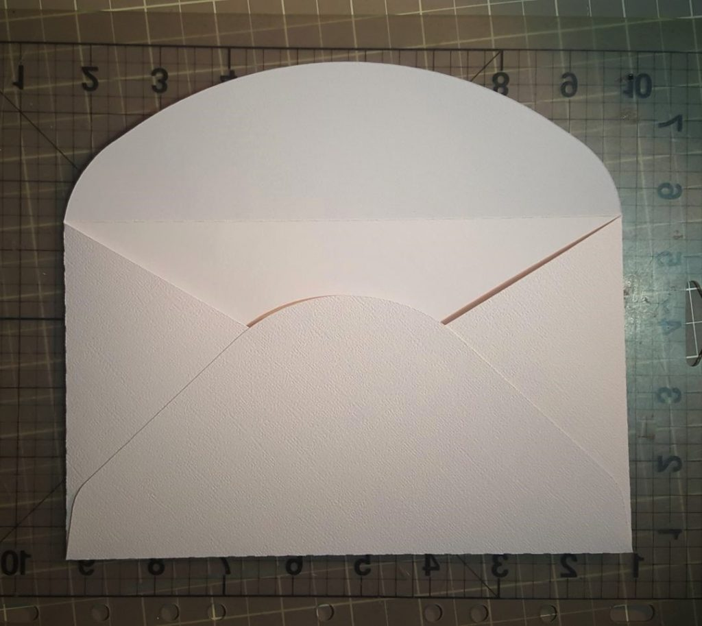You are looking at the envelope cut file. That comes with the card. I cut mine out in a light weight white 12x12 scrap paper.