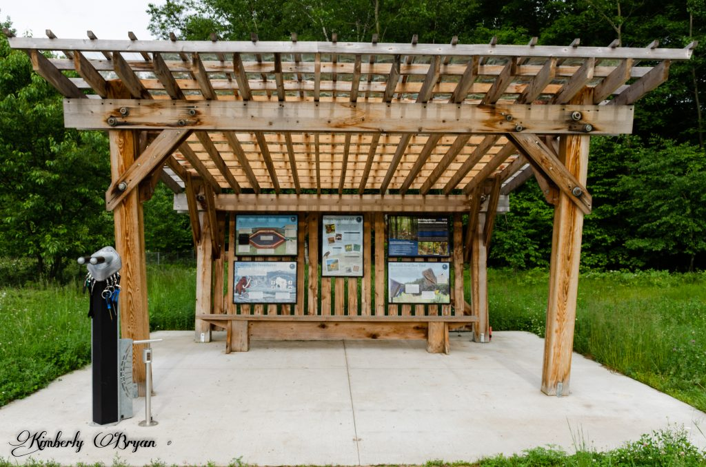 You are looking at the visitor Ice Age info area that runs along the Mountain-Bay Trail in Wisconsin.
