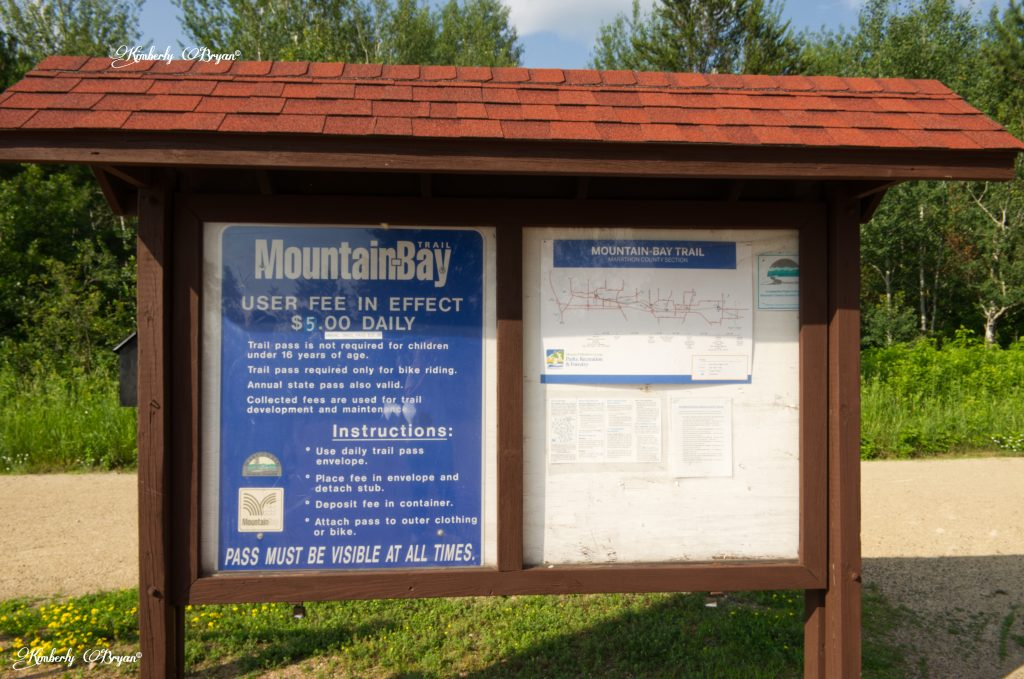 You are looking at the information board at the entrance of the Marathon side. Of the Mountain-Bay Trail.