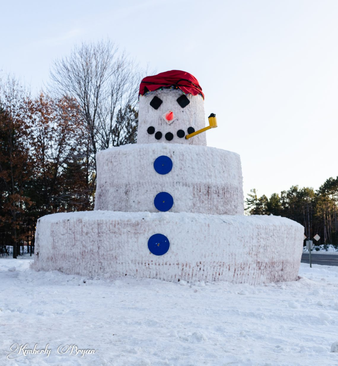 You are looking at Snowmy Kromer a 30 foot high snowman in Minocqua, Wi.