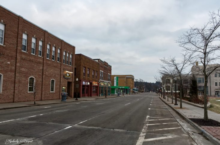 You are looking at the main street in down town Wausau, Wisconsin. Never in my life have I seen these streets empty, it really does look like a modern ghost town.