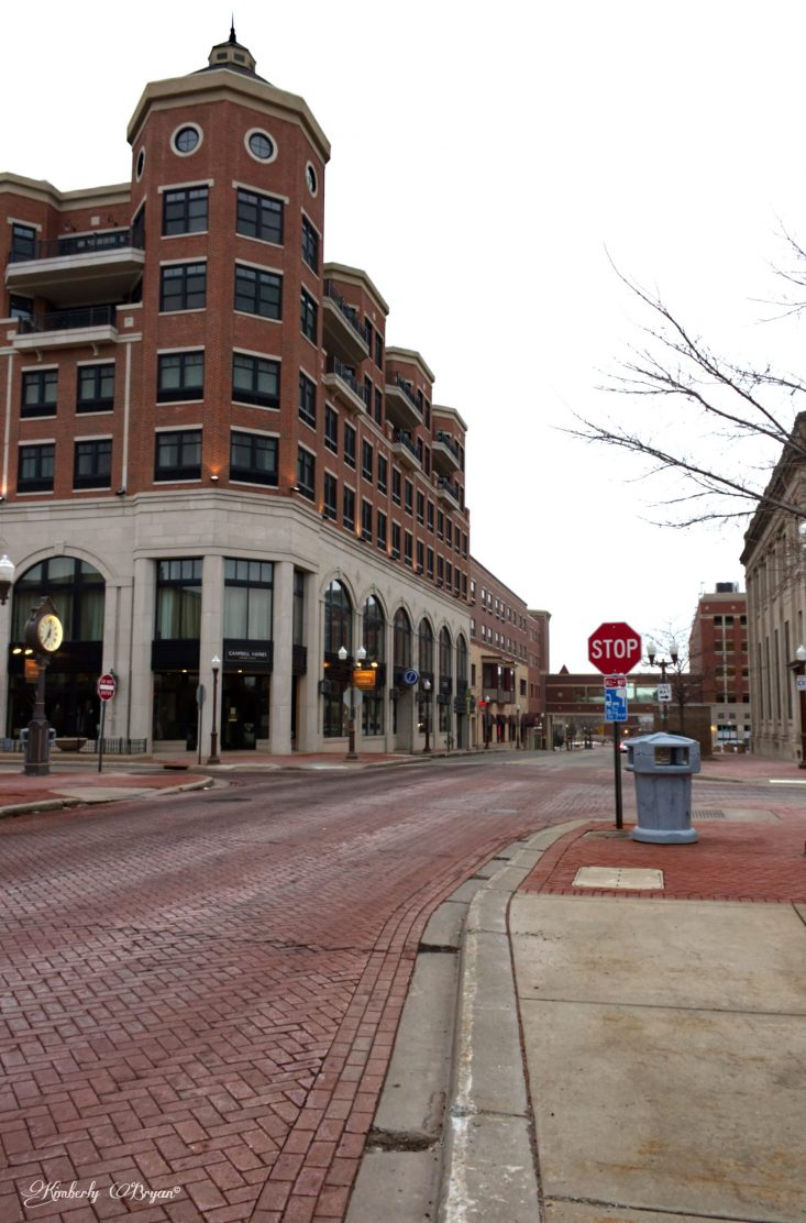 You looking at the center of Wausau, the streets are completely empty. Nothing but the tall brick buildings and the birds chirping.