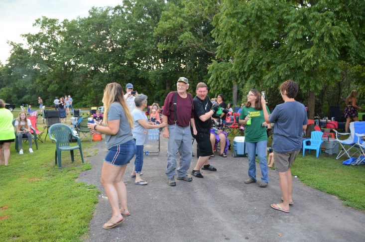 You are looking at my dad dancing at the Bryan Family Reunion. He has had a long battle with Leukemia and it was good to see him moving around. Happy Father's Day to all the dads out there. As well as to my dad.