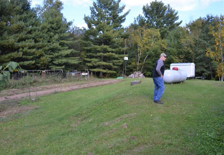 You are looking at a photo of my dad walking around his garden area in Wisconsin. Has always plants lots of tomatoes. He loves canning tomatoes and making tomato juice. He cans the very best tasting tomato juice ever! Happy Father's Day To All The Dads Out There!