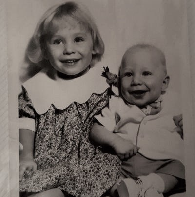 You are looking at a photo of my little brother and I in the early 60's. This photo was taken right before our parents moved us all out to Wyoming. My home away from home! Happy Father's Day to all the Dads out there and to my dad as well.