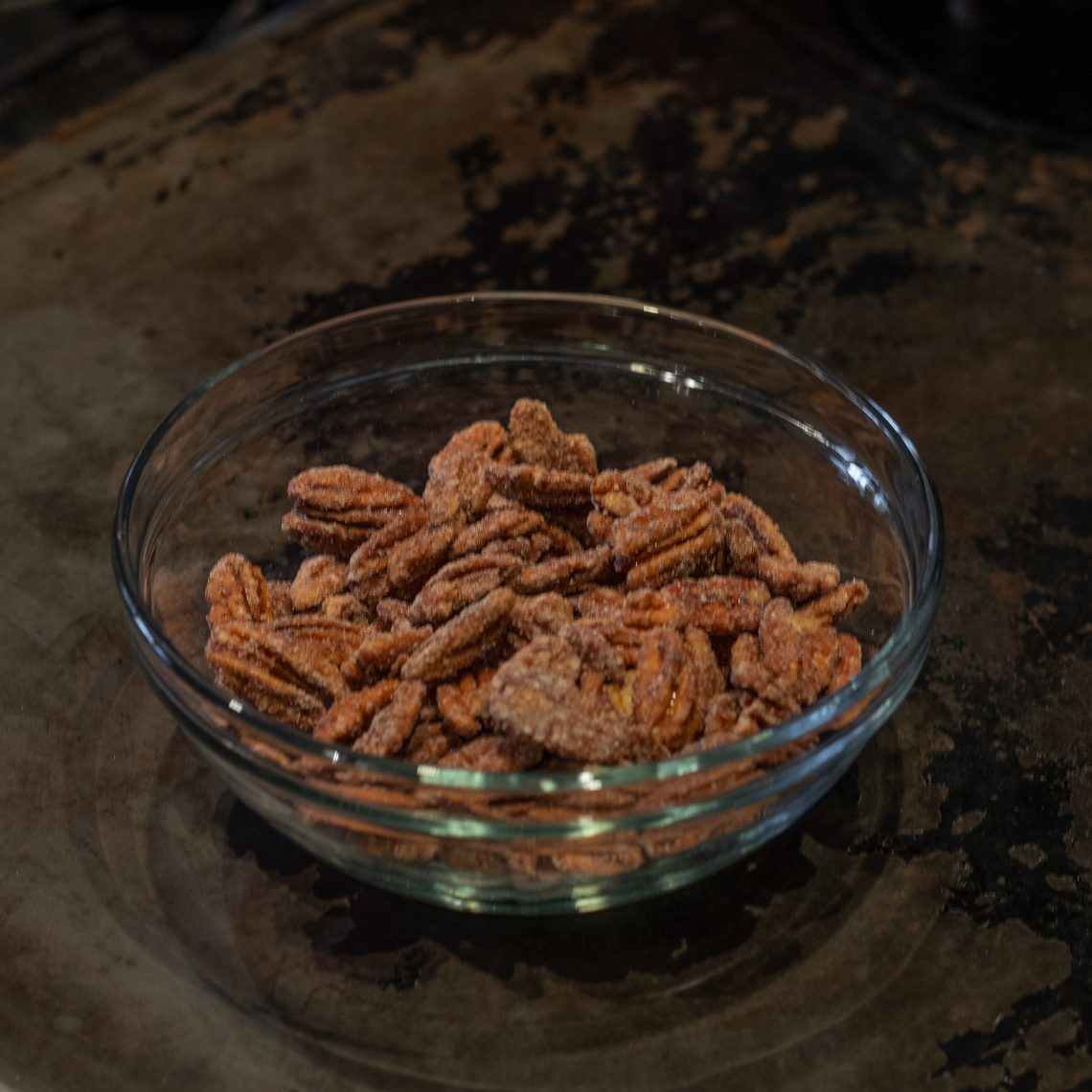 You are looking a toasted pecans with real maple syrup. Made with my hand made syrup with cinnamon and a bit of sea salt.